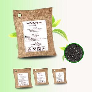 4XAir Purifying Bamboo Charcoal Bag Natural Home Car Purifier Dehumidifier Odour