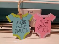 Baby Gift Tags- Set of 3 - For The Cutie Patootie