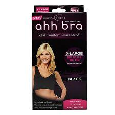 Rhonda Shear Ahh Bra Total Comfort Gauranteed! Women's Wire Free X-LARGE Black