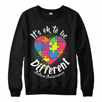 Autism Awareness Jumper Different Puzzle Heart Love Gift Adult & Kids Jumper Top