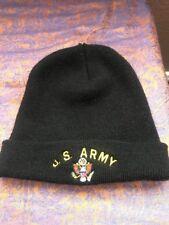 U.S. Army Men's Black Beenie Winter Cap Hat