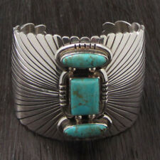 Silver & Blue Turquoise Stone Ihmss Exquisite Hand Made Gallery Quality Sterling