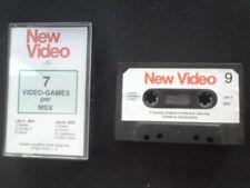 New Video nunmero 9 x MSX CASSETTA originale 7 giochi