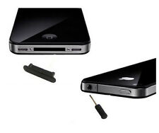 KIT STOPPER NERO ANTIPOLVERE CUFFIE DOCK PER IPHONE 4