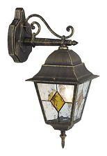 PARETE ESTERNO LAMPADA GIARDINO LUCE ILLUMINAZIONE CORTILE pendenti NERO ORO