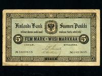 Finland:P-A50,5 Markkaa/Fem Mark,1886 * RARE *