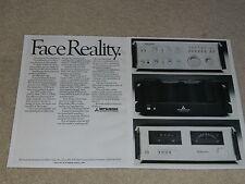 Mitsubishi 1978 Ad, 2 pg, DA-A15DC Amp, DA-P20 Preamp, DA-F20 Tuner, Article
