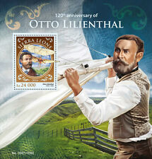 Sierra Leone 2016 MNH Otto Lilienthal 1v S/S Aviation Glider King Stamps
