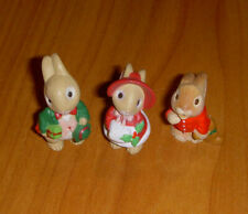 Hallmark Merry Miniature Christmas Mr & Mrs Bunny Rabbit with Baby Bunny Lot 3