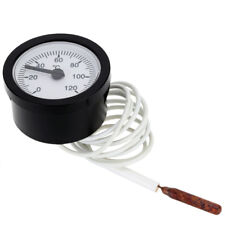 0-120°C Dial Thermometer Capillary Temperature Gauge 1.5m for Water & Oil