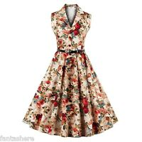 ZAFUL Womens 50s 60s Swing Retro Housewife Pinup Rockabilly Party Evening Dress
