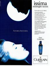 Publicité Advertising 107  1990  Guerlain cosmétiques creme nuit Issima