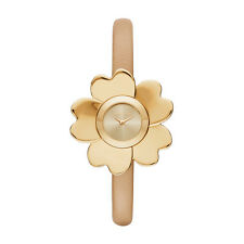 *BRAND NEW* Michael Kors Women's  Gold-Tone and Peanut Leather Watch MK2664