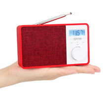 Red Portable Fm 87-108 Mhz Radio Mp3 Player Bluetooth Speaker Built-in Battery