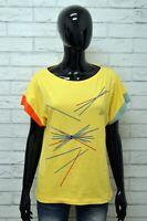 Maglia LINEA TIME Donna Taglia Size 3 L Maglietta Blusa Shirt Woman Manica Corta