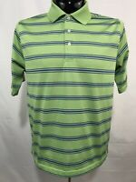 PALM BEACH GOLF Mens Polo Shirt M Green Performance Wicking Polyester S/S