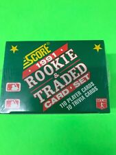 1991 SCORE ROOKIE AND TRADED 110 CARD FACTORY SET SEALED