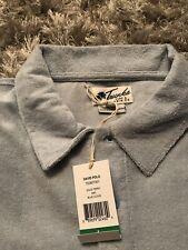 NWT Mens Trunks Surf & Swim Co Terry Cloth Polo Shirt Medium M Blue Cloud $48