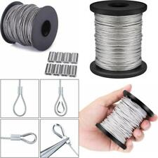 Vinyl Coated Picture Hanging Wire Stainless Steel 26 Pieces Aluminum Loop Sleeve