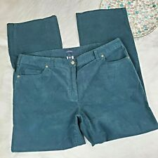 Lands Corduroy Pants Womens Size 18W Red Straight Leg Cords Mid Rise