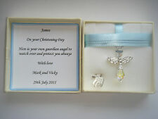 Christening Naming Baptism Day Guardian Angel Gift Present Boy Personalised