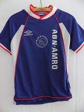 Ajax Amsterdam 1999/2000 Umbro Football Shirt Retro Jersey Trikot Away Blue Top