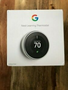*Brand New* Google - Nest Learning Smart Thermostat - 3rd Gen - Stainless Steel