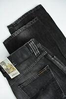 NUDIE SLIM JIM ORG. FADE TO GREY Men's W32/L34 Straight Organic Jeans 3082_mm