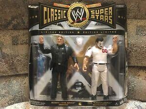 Jakks WWE Classic Superstars BOBBY HEENAN & ABE KNUCKLEBALL SCHWARTZ NEW TRU MOC