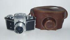 EXAKTA II Ihagee German SLR camera Bayonet Tessar lens 2.8/50mm in Case #656240