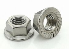 12Pcs M12 x 1.75 Stainless Steel Flange Hex Nut Right Hand Thread