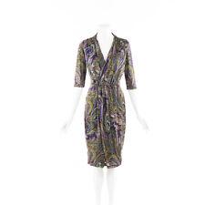 Etro Paisley Stretch Knit Midi Dress SZ 46