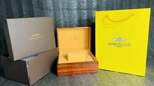 BREITLING Vintage Wooden Rare Watch Box Full kit paper work