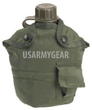 Made in USA Military Army 1 L Qt Plastic OD Green Canteen + Insulated USGI Cover