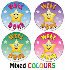 144 x Well Done Reward Stickers - School Teachers Award - Parents Kids