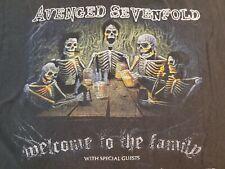 A7X Avenged Sevenfold Tour 2011 RARE Black Shirt The Rev