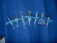 Newport Blue T Shirt Fishing Lures Special Forces Diving Into Action-sz L  NWT