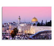120x80cm Leinwandbild auf Keilrahmen Felsendom Klagemauer Jerusalem Israel
