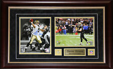 Drew Brees New Orlean Saints 2 Photo Signed NFL Football Collector Frame