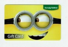 Family Video Gift Card - Minion - Movie Rentals - Despicable Me - No Value