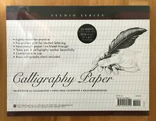 Studio Series. Calligraphy Paper. 50 Sheets Heavyweight Paper. Lightly Ruled.