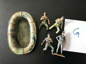lot STARLUX militaire ZODIAC PLONGEUR N°G WW2 60mm genre britains elastolin