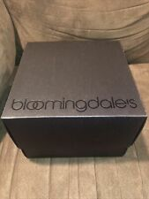 """Bloomingdale'S medium square Black Paper Gift Box / Tissue Papers8"""" X 8"""" X 6"""""""