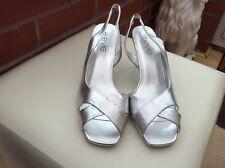 New Stilleto Heel Silver Evening Shoes,size 7.