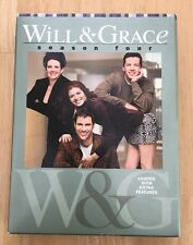 Will & Grace: Complete Fourth Season 4 (DVD, 2005, 4-Disc Set)NM