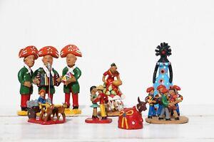 1950s Brazilian Set of Seven Earthenware Folk Art Figurines