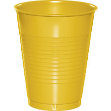 20 School Bus Yellow Wedding Birthday Party Tableware 16oz Plastic Beverage Cups