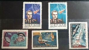 2 x Full Sets Of Vietnam Stamps - 2nd Manned Space Flight / 1st Team Flight  MNH