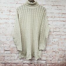 Laura Gayle Womens Turtle Neck Sweater Sz XL Beige Long Sleeve Pullover