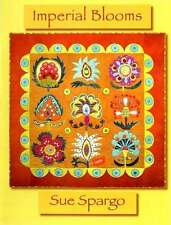 IMPERIAL BLOOMS QUILTING PATTERN, Softcover Book From Sue Spargo Folk-Art Quilts